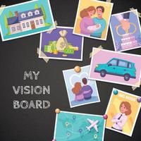 Vision Board Composition vector