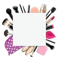 Makeup Coloring Realistic Composition vector