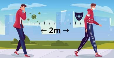 Street Social Distance Composition vector