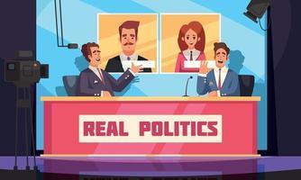 Real Politics Background vector