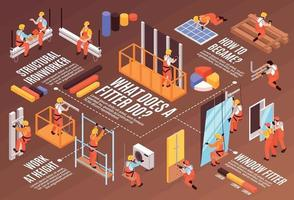 Isometric Fitter Infographic Composition vector
