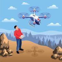 Outdoor Drone Operator Composition vector