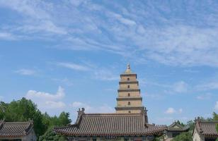 Buddhist architecture of Dayan Pagoda, Xian China photo