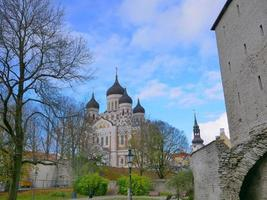 Saint Alexander Nevsky Cathedral in Tallinn, Estonia photo