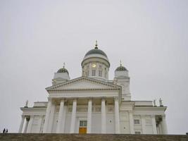 Famous travel spot Helsingin tuomiokirkko in Helsinki Finland photo