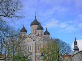Catedral de San Alejandro Nevski en Tallin, Estonia foto