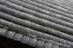 tile roof in Tianshui Folk Arts Museum Hu Shi folk house, Gansu China photo