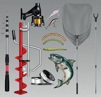Fish Tackle Set vector
