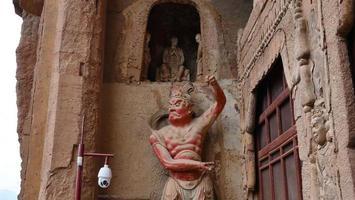Maijishan Cave-Temple Complex in Tianshui city, Gansu Province China. photo