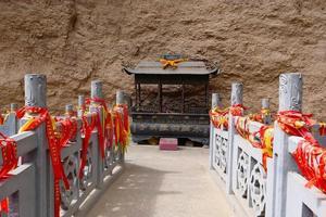La Shao temple stone bridge in Tianshui Wushan China photo