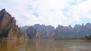 Landscape view of the yellow river in liujia xia Lanzhou Gansu, China. photo