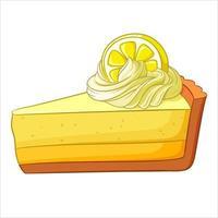 A piece of lemon cake vector illustration