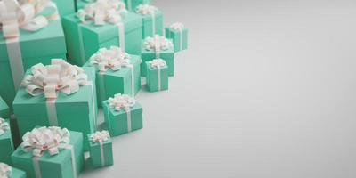 Gift boxes of a celebration banner photo