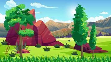llanura ventosa cerca de la jungla y las rocas video