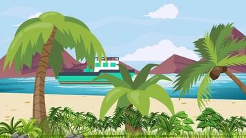 The Tropical Island And The Wavy Sea video