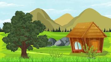 The Tiny Cabin Is Near The Old Tree video