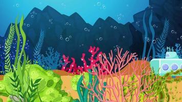 o minúsculo submarino está procurando no fundo do mar video