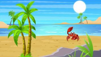 The Giant Crab Is Searching For Food video