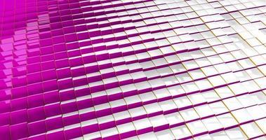 trama formata da cubi riflettenti con colore diverso su ogni lato video