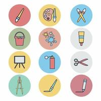Icon Vector of Painting Set - Color Mate Style