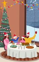 Celebrate Christmas Eve with Family vector