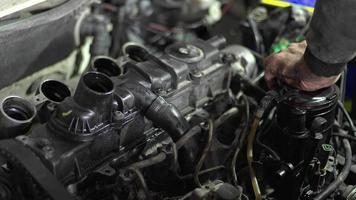 Diesel Car Fuel Filter Change Footage video