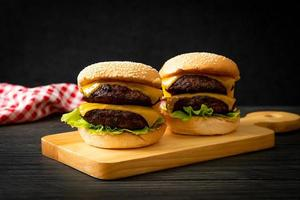Hamburger or beef burgers with cheese photo