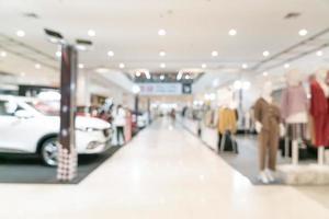 centro comercial de desenfoque abstracto y tienda minorista foto
