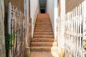 Outdoor brick stair step photo