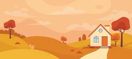 Background Autumn Scenery vector