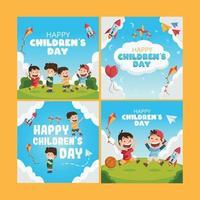 Activity Children Day Social Media vector