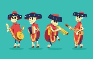 Dia de Los Muertos Character Set vector
