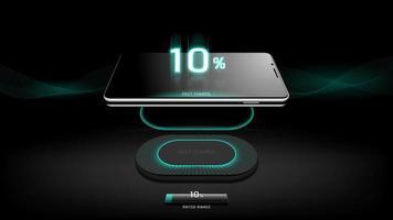 o nível de carregamento rápido de smartphone estilo de design de carregamento sem fio video