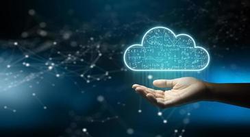 Red de almacenamiento de Internet de tecnología de computación en la nube. foto