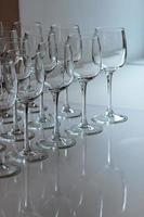 Empty glasses event catering photo