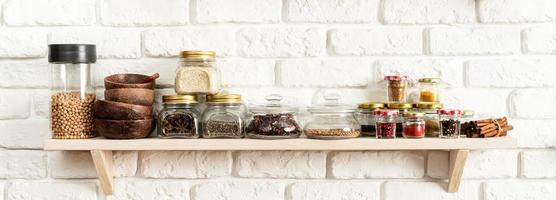 Spice on the kitchen shelf photo