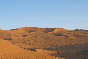 Beautiful dusk landscape view of desert in Dunhuang Gansu China. photo