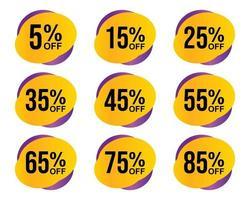 Ilustración de vector de etiqueta de venta aislada sobre fondo blanco