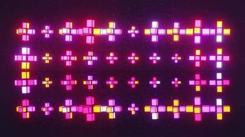 Neon geometric shapes spinning 4K UHD 60FPS 3D illustration video