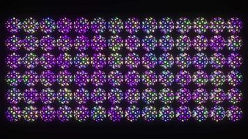 Multicolored spheres spinning 4K UHD 60FPS 3D illustration video