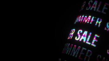 effet 3d de texte coloré de vente d'été video