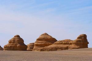 Yardang landform in Dunhuang UNESCO Global Geopark, Gansu China. photo