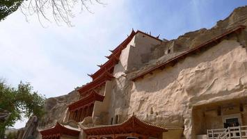 Ancient Buddhism architecture Dunhuang Mogao Grottoes in Gansu China photo