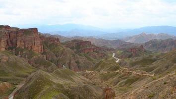 Binggou Danxia Scenic Area in Sunan Zhangye Gansu Province, China. photo