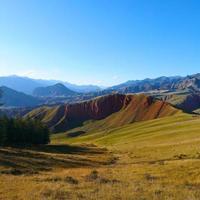 The Qilian Mountain Scenic Area Mount Drow in Qinghai China. photo