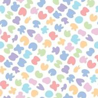Cute bright childish seamless pattern with colorful pastel spot stains vector