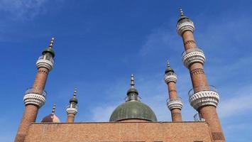 Islamic architecture of Grand Bazaar in Urumqi Xinjiang photo