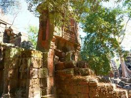 Stone ruin at Banteay Kdei, Angkor wat complex in Siem Reap photo