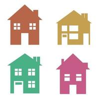 Simple Set of Flat Graphic House Icons vector