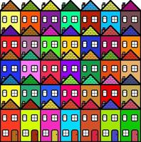 Colorful Village Community of Residential Homes vector